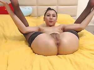 Close by nearly Asian Teen Fucks Her Pussy - Watch Part
