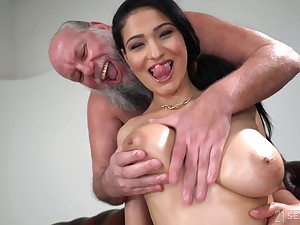 Lucky old guy gets to fuck Ava Funereal dimension she moans loudly