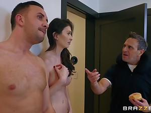 After a blowjob Angelina Diamanti got say no to pussy fucked by horny toff
