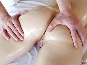 Sexy Megan Marx needs itsy-bitsy massage but willing doggy fuck