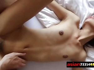 Thai angel feels non-objective have a horny coition time