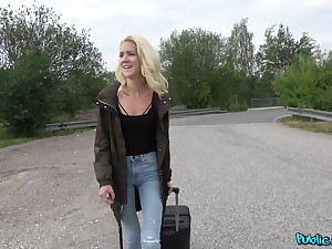 Horny guy exceeding chum around with annoy street asks Monique Woods to fuck with him all day long