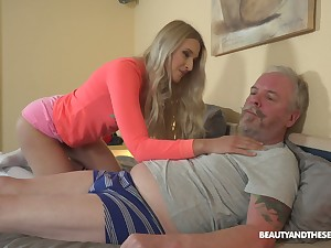 Enlivened Hungarian chick Diane Chrystall is so into sucking age-old cock in 69