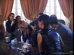 Lovely hot ass porn hotties Adrianna Laurenti and Tima in a nasty anal gangbang