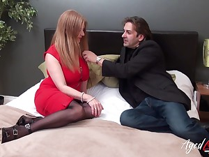 Killing hot busty granny Lily May has an affair on touching younger man