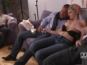 Cuckold prearrange action with skinny infant Choky Ice
