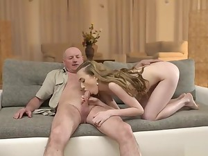 daddy4k. man gets overfamiliar sons day and fucks her