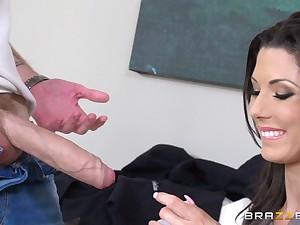 Skinny of age pornstar Alexa Tomas gives head and gets fucked