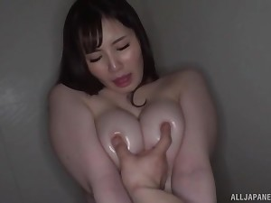 Domicile amateur video with big natural tits Fujishiro Momone getting fucked