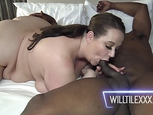 Jessica Lust pleased ebony BF with pussy make the beast with two backs